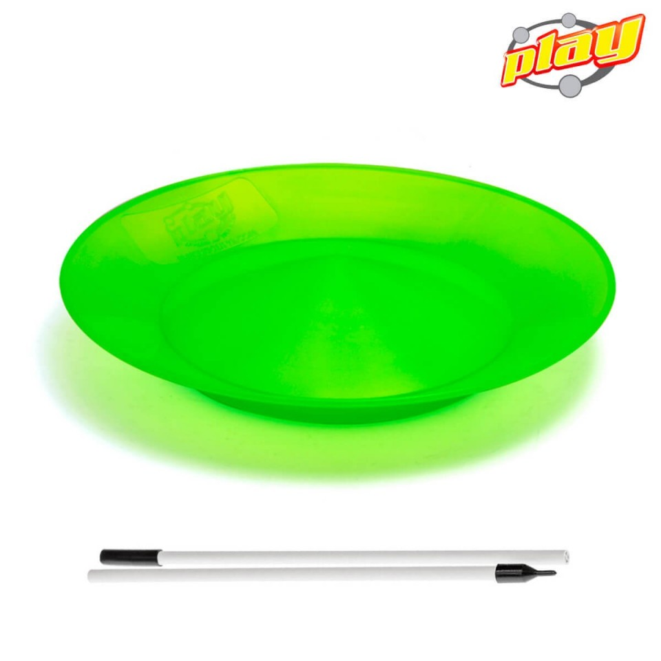 SPINNING PLATE WITH DIVISIBLE STICK