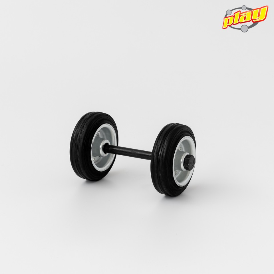 Coppia di ruote con asse