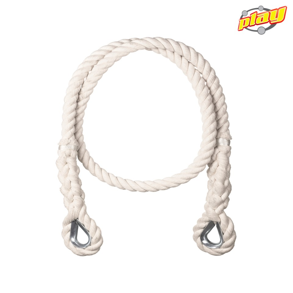 100% COTTON ROPE  DIAMETER 25 mm WITH GALVANIZED STEEL THIMBLES